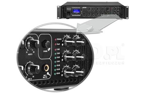Wskaźniki LED wysterowania, sygnalizacji błędu i zasilania.