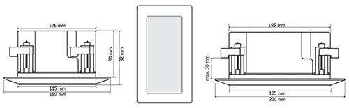 Wymiary głośnika HQM-46SP.
