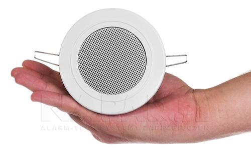 Małe wymiary głośnika sufitowego HQM-SO613.