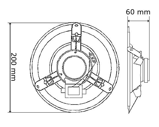 Wymiary głośnika HQM-SO615