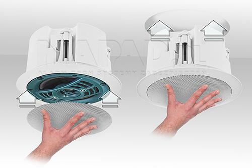 Szybki i łatwy montaż głośnika HQM-SOZ1625.