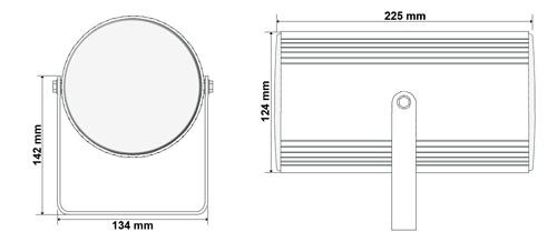 Wymiary głośnika HQM-ZPR201.