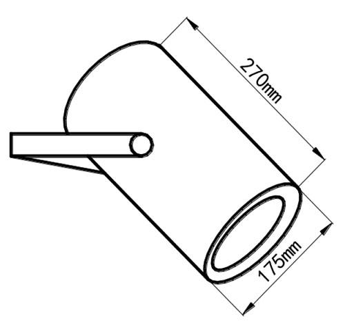 Wymiary głośnika HQM-ZPR30.