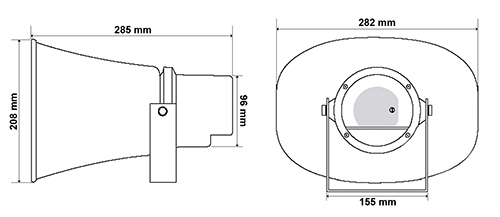 Wymiary głośnika HQM-ZT301.