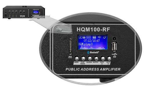 Wbudowany Bluetooth i tuner radiowy.