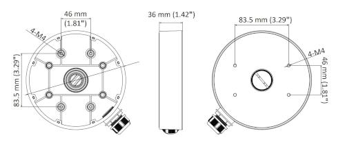 Wymiary - DS-1280ZJ-DM55