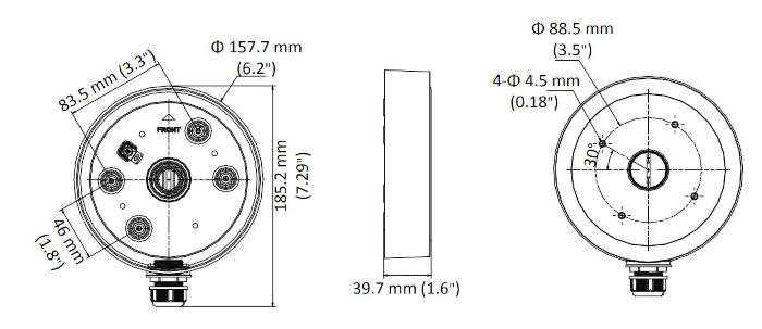 Wymiary - DS-1280ZJ-SD11