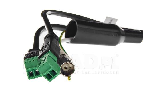DS-2AE4225TI-D - Złącza kamery Hikvision Analog HD PTZ.