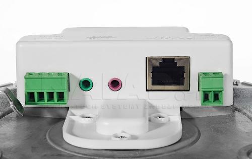 DS-2CD2686G2-IZS - Złącza umieszczone w puszce.