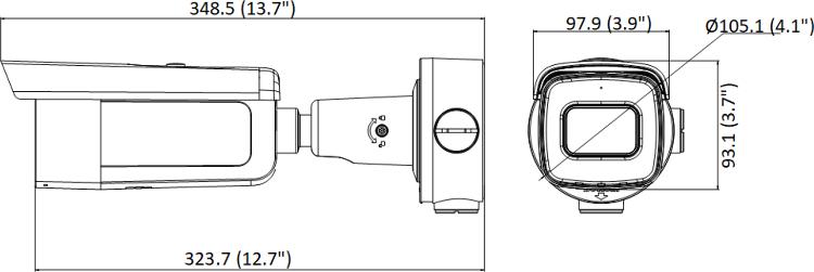 Wymiary kamery Hikvision