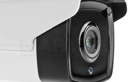 DS-2CE16D1T-IT3 - Oświetlacz podczerwieni w technologii Black Glass w kamerze.