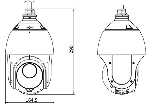 DS-2DE4215IW-DE - Wymiary kamery IP PTZ.