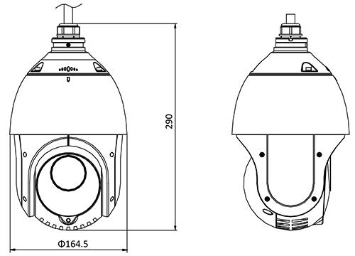 DS-2DE4425IW-DE - Wymiary kamery IP PTZ.