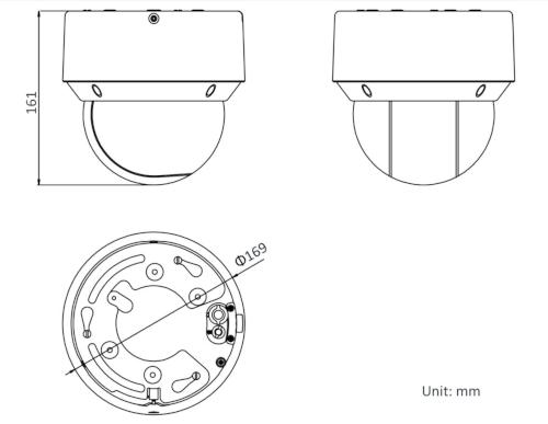 DS-2DE4A225IW-DE - Wymiary kamery IP PTZ.