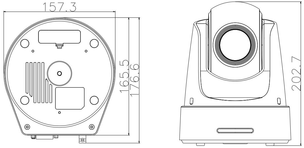DS-2DF5220S-DE4/W - Wymiary kamery IP PTZ.