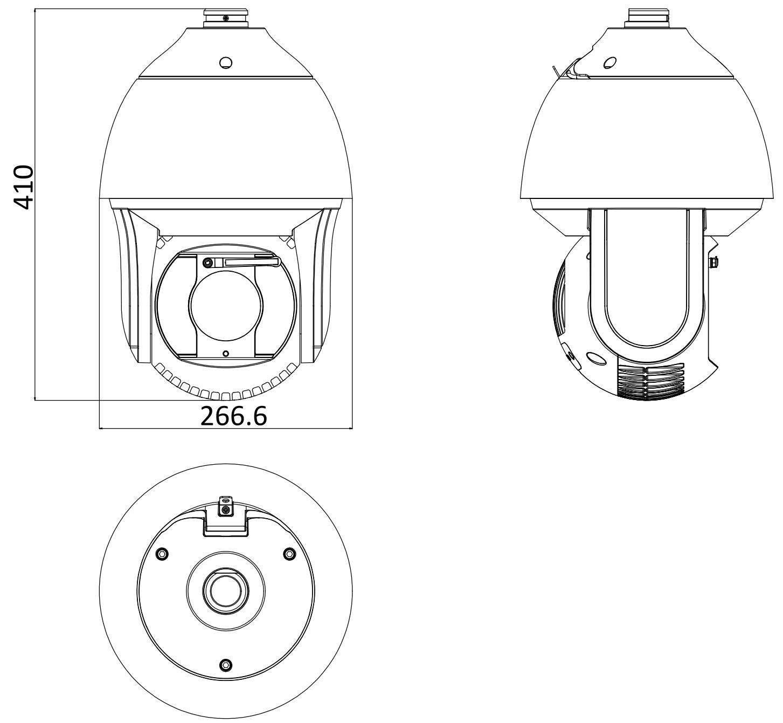 DS-2DF8436IX-AEL - Wymiary kamery IP PTZ.
