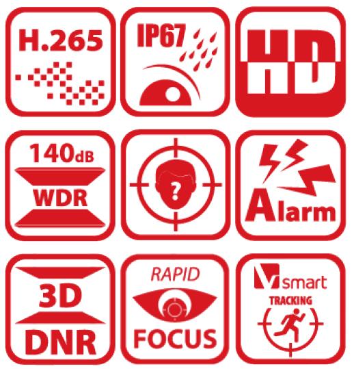 Specyfikacja kamery PTZ Hikvision.