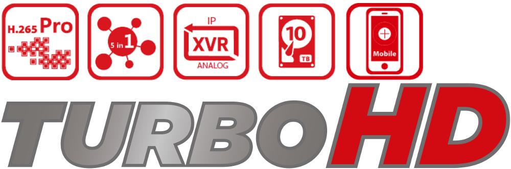 Rejestratory HD-TVI z nowoczesnej serii Turbo HD.