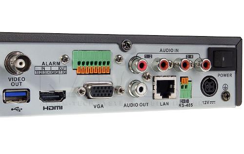 DS-7216HQHI-K1/A - Złącza rejestratora.
