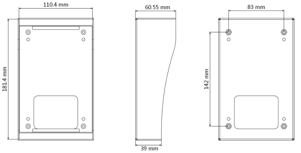 DS-KAB8103-IMEX - Wymiary obudowy podane w mm.