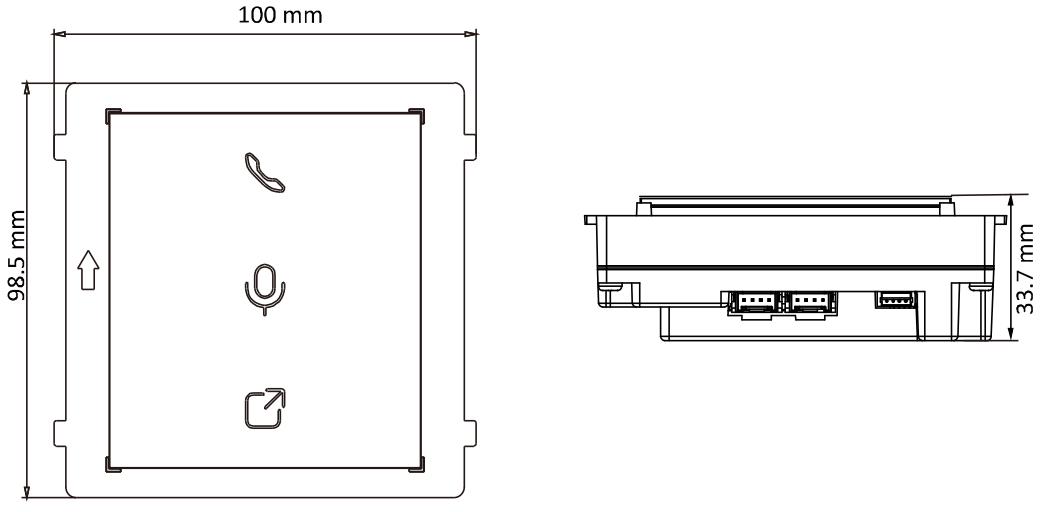 DS-KD-IN - Wymiary podane w mm.