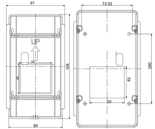 DS-KV8102-I - Wymiary panela wideodomofonowego.