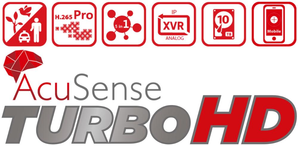 Rejestratory AcuSense z nowoczesnej serii Turbo HD 5.0.