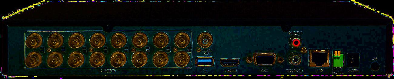 Tył rejestratora XVR Hikvision