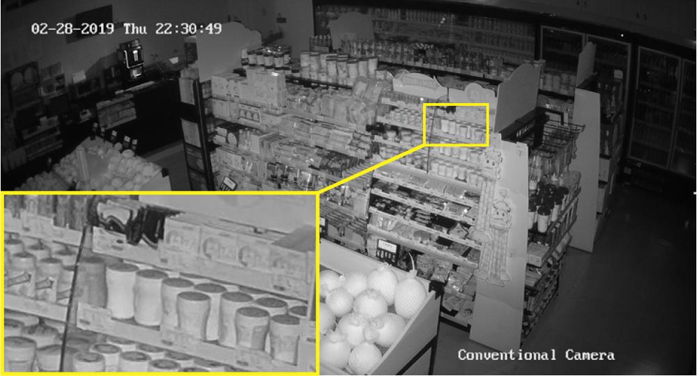 Widok ze standardowej kamery IP.