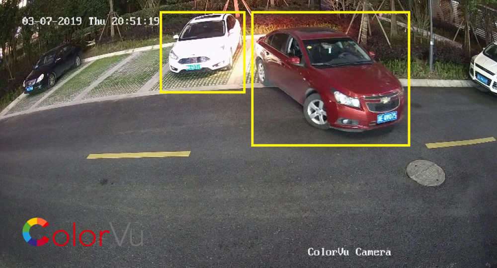 Widok z kamery Hikvision ColorVu.