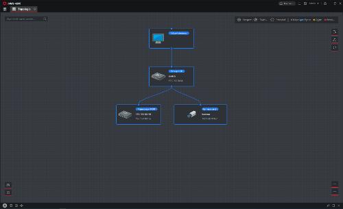 Wizualizacja zarządzania topologią.