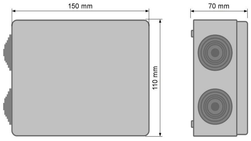 IPB-5-10-S4 - Wymiary kamery podane w mm.