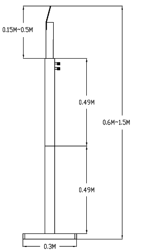 Wymiary stojaka do terminala IPOX