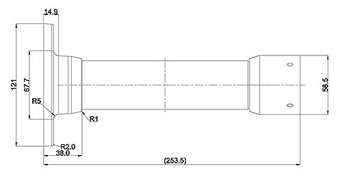 JB-808 - Wymiary uchwytu podane w milimetrach.