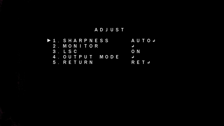 Przełączanie trybu pracy z menu OSD (output mode).