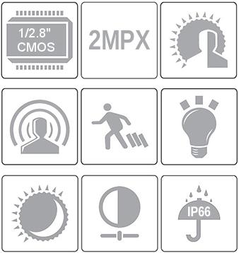 PX-DI2028-P / PX-DI2036-P - Wybrane właściwości kamery IP IPOX.
