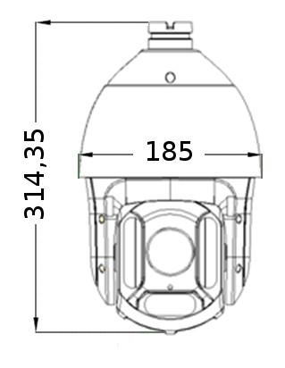PX-SDH2010 - Wymiary kamery podane w mm.