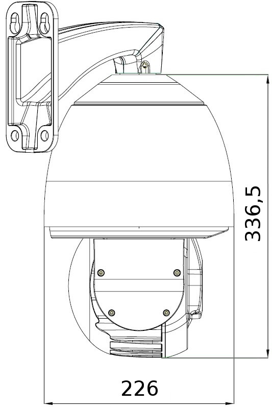 PX-SDH2012 - Wymiary kamery podane w mm.