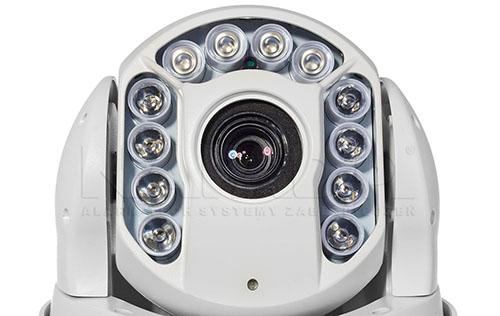 PX-SDH2012 - Wydajny oświetlacz IR zapewnia skuteczny monitoring nocą.