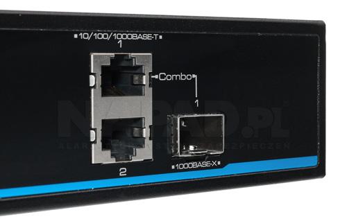 PX SW16-TP300-U3G - Porty Uplink w switchu PoE IPOX.