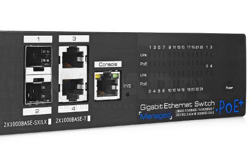 PX-SW24G-SPL2-U4GF - Porty Uplink w switchu PoE IPOX.