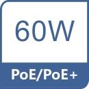 HPoE - 60W na pierwszym porcie RJ45.