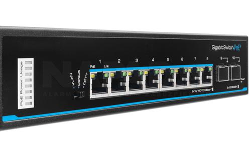 PX-SW8G-SP80-U2G - Porty optyczne na moduły SFP.