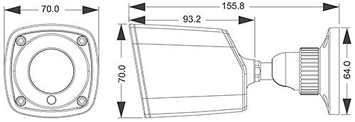 PX-TH2024 - Wymiary kamery IPOX.