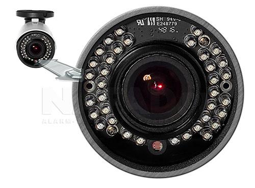 Kamera z wydajnym oświetlaczem podczerwieni.
