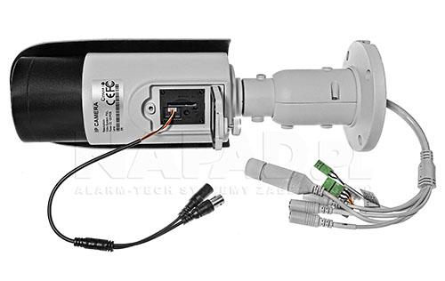 PX-TZIP4025AS-P - Gniazdo do podłączenia monitora serwisowego w kamerze megapikselowej.