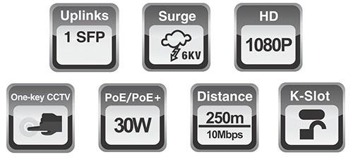 PX-SW8-SP60-U1 - Wybrane specyfikacje switcha 8 portowego.
