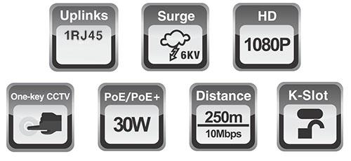 PX-SW8-TP60-U1 - Wybrane specyfikacje switcha 8 portowego.