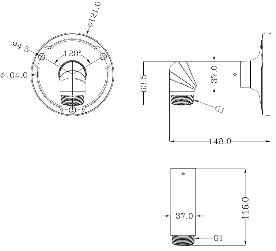 JB-405 - Wymiany uchwytu do podstaw montażowych IPOX.