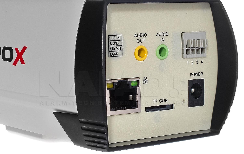 PX-BI4000AS-E - Wejście, wyjście alarmowe oraz slot karty pamięci SD.